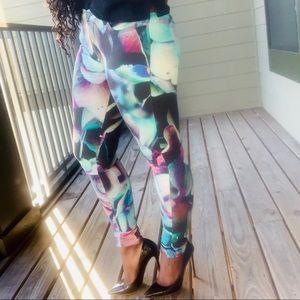 Hydra print super skinny jeans